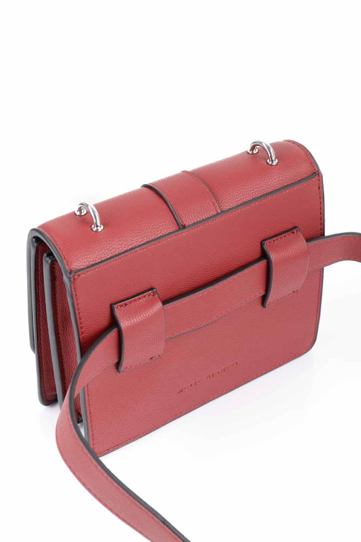 meliebiancoのStalkingGia(Wine)/海外ファッション好きにオススメのインポートバッグとかばん、MelieBianco(メリービアンコ)のバッグやショルダーバッグ。メタルのバックルがアクセントの2Wayショルダーバッグ。付属のストラップを背面に取り付ければウエストバッグとして楽しめます。/main-17