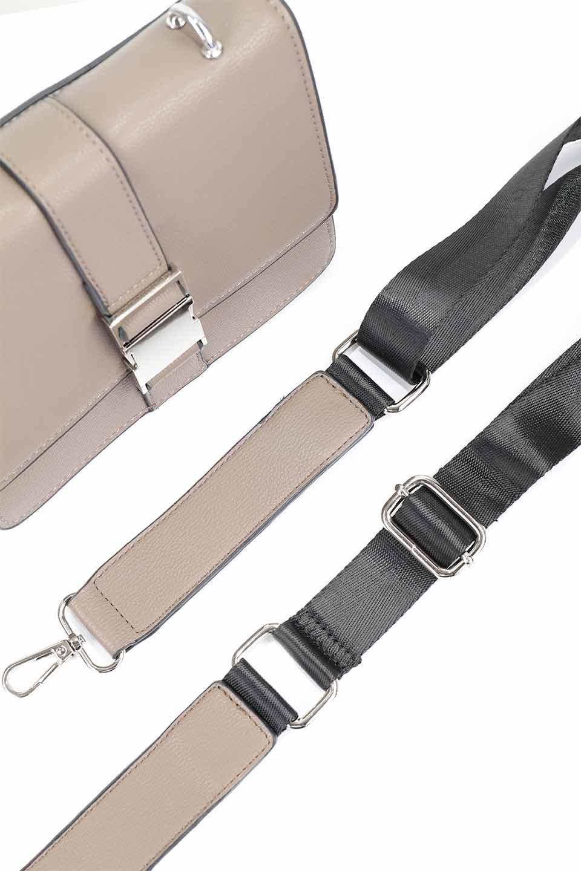 meliebiancoのStalkingGia(Taupe)/海外ファッション好きにオススメのインポートバッグとかばん、MelieBianco(メリービアンコ)のバッグやショルダーバッグ。メタルのバックルがアクセントの2Wayショルダーバッグ。付属のストラップを背面に取り付ければウエストバッグとして楽しめます。/main-18