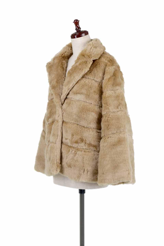 LOVESTITCHのWinnieCoatベルスリーブ・エコファーコート/海外ファッションが好きな大人カジュアルのためのLOVESTITCH(ラブステッチ)のアウターやコート。ルーズなベルスリーブが特徴のエコファーを使用したショートコート。絶妙な着丈の長さと明るめのキャメルカラーでワンランク上のカジュアルコーデが楽しめます。/main-1