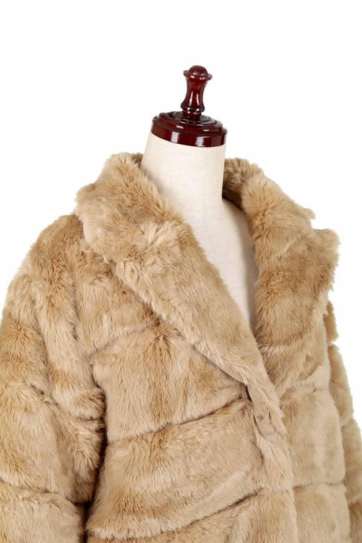 LOVESTITCHのWinnieCoatベルスリーブ・エコファーコート/海外ファッションが好きな大人カジュアルのためのLOVESTITCH(ラブステッチ)のアウターやコート。ルーズなベルスリーブが特徴のエコファーを使用したショートコート。絶妙な着丈の長さと明るめのキャメルカラーでワンランク上のカジュアルコーデが楽しめます。/main-19