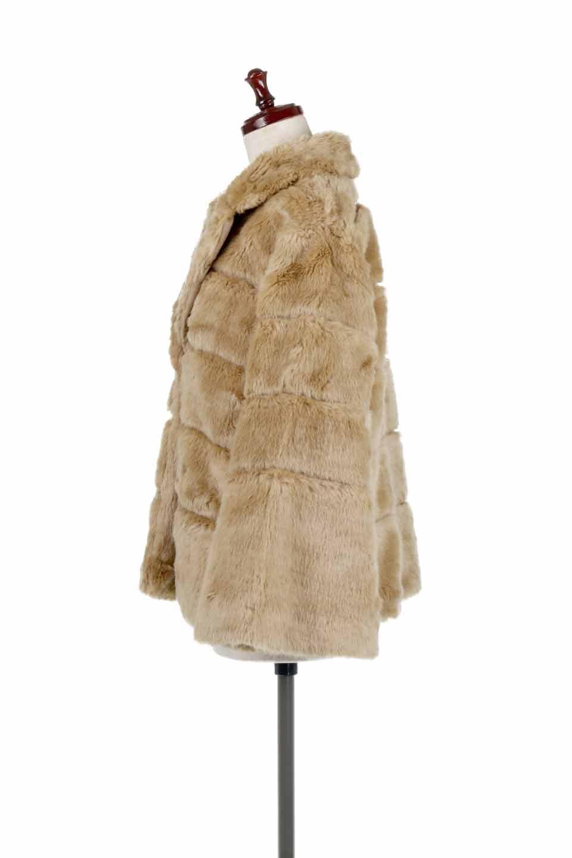 LOVESTITCHのWinnieCoatベルスリーブ・エコファーコート/海外ファッションが好きな大人カジュアルのためのLOVESTITCH(ラブステッチ)のアウターやコート。ルーズなベルスリーブが特徴のエコファーを使用したショートコート。絶妙な着丈の長さと明るめのキャメルカラーでワンランク上のカジュアルコーデが楽しめます。/main-2