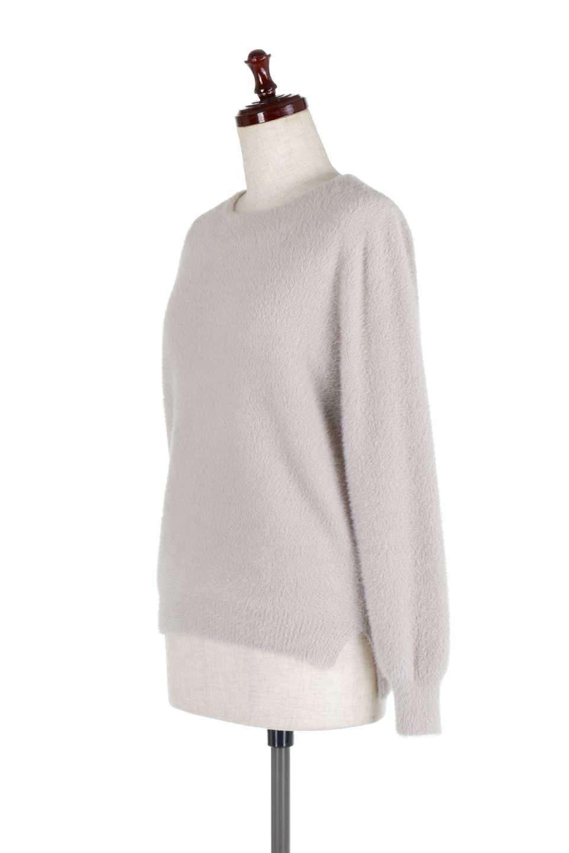 ShaggyknitPullOverTopシャギーニット・ミラノリブニット大人カジュアルに最適な海外ファッションのothers(その他インポートアイテム)のトップスやニット・セーター。ふわふわシャギーが着心地抜群のニットトップス。ミラノリブという編地でしっかりとした編みになっているので保温効果も抜群です。/main-11