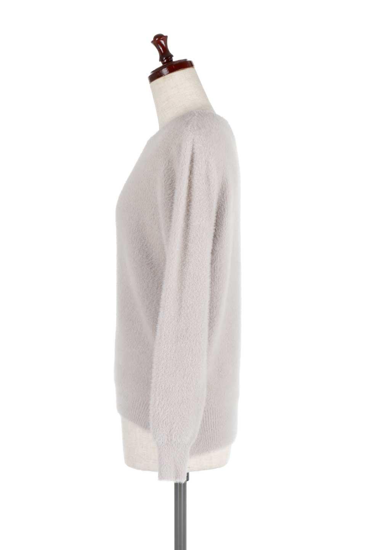 ShaggyknitPullOverTopシャギーニット・ミラノリブニット大人カジュアルに最適な海外ファッションのothers(その他インポートアイテム)のトップスやニット・セーター。ふわふわシャギーが着心地抜群のニットトップス。ミラノリブという編地でしっかりとした編みになっているので保温効果も抜群です。/main-12