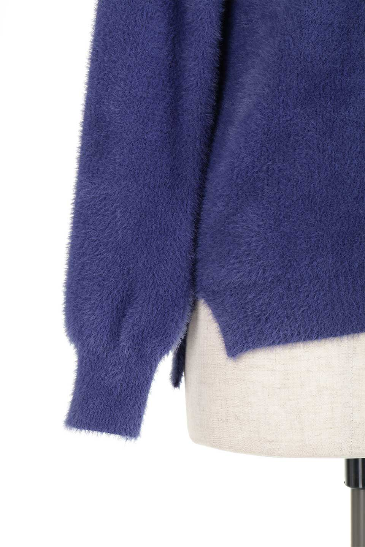 ShaggyknitPullOverTopシャギーニット・ミラノリブニット大人カジュアルに最適な海外ファッションのothers(その他インポートアイテム)のトップスやニット・セーター。ふわふわシャギーが着心地抜群のニットトップス。ミラノリブという編地でしっかりとした編みになっているので保温効果も抜群です。/main-40