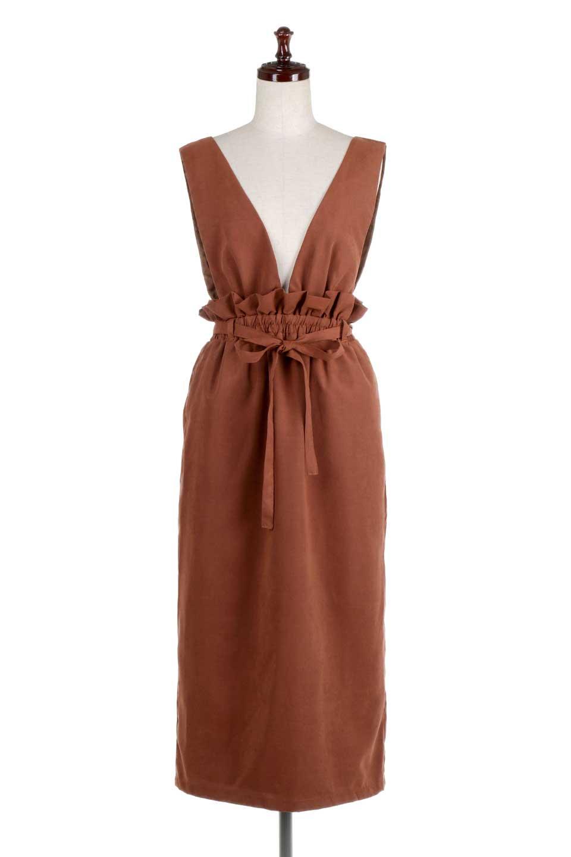 WaistGatheredJumperDressギャザーウエスト・ジャンパースカート大人カジュアルに最適な海外ファッションのothers(その他インポートアイテム)のボトムやスカート。ギャザーのウエストがアクセントのジャンパースカート。ハイウエストで下半身が長く見えます。/main-10