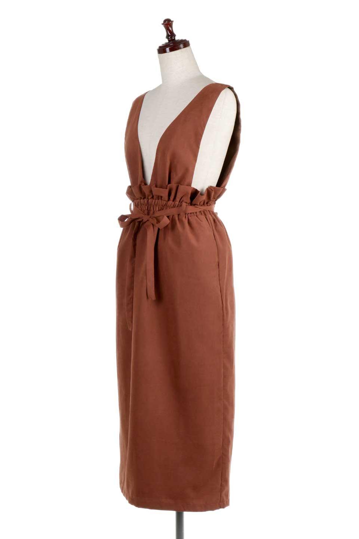 WaistGatheredJumperDressギャザーウエスト・ジャンパースカート大人カジュアルに最適な海外ファッションのothers(その他インポートアイテム)のボトムやスカート。ギャザーのウエストがアクセントのジャンパースカート。ハイウエストで下半身が長く見えます。/main-11