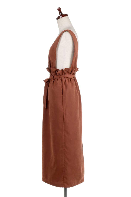WaistGatheredJumperDressギャザーウエスト・ジャンパースカート大人カジュアルに最適な海外ファッションのothers(その他インポートアイテム)のボトムやスカート。ギャザーのウエストがアクセントのジャンパースカート。ハイウエストで下半身が長く見えます。/main-12