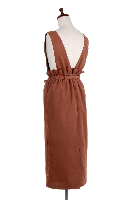 WaistGatheredJumperDressギャザーウエスト・ジャンパースカート大人カジュアルに最適な海外ファッションのothers(その他インポートアイテム)のボトムやスカート。ギャザーのウエストがアクセントのジャンパースカート。ハイウエストで下半身が長く見えます。/main-13