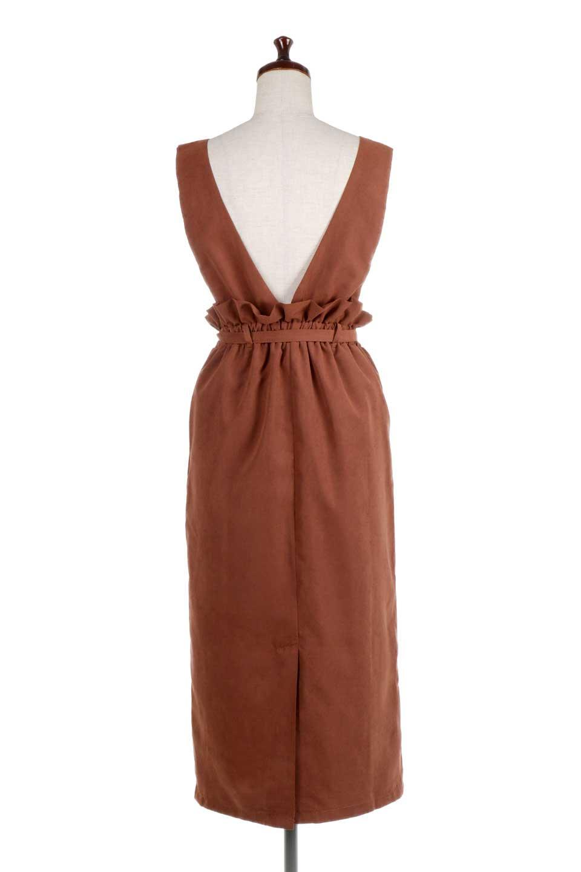 WaistGatheredJumperDressギャザーウエスト・ジャンパースカート大人カジュアルに最適な海外ファッションのothers(その他インポートアイテム)のボトムやスカート。ギャザーのウエストがアクセントのジャンパースカート。ハイウエストで下半身が長く見えます。/main-14