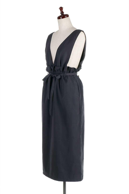 WaistGatheredJumperDressギャザーウエスト・ジャンパースカート大人カジュアルに最適な海外ファッションのothers(その他インポートアイテム)のボトムやスカート。ギャザーのウエストがアクセントのジャンパースカート。ハイウエストで下半身が長く見えます。/main-16