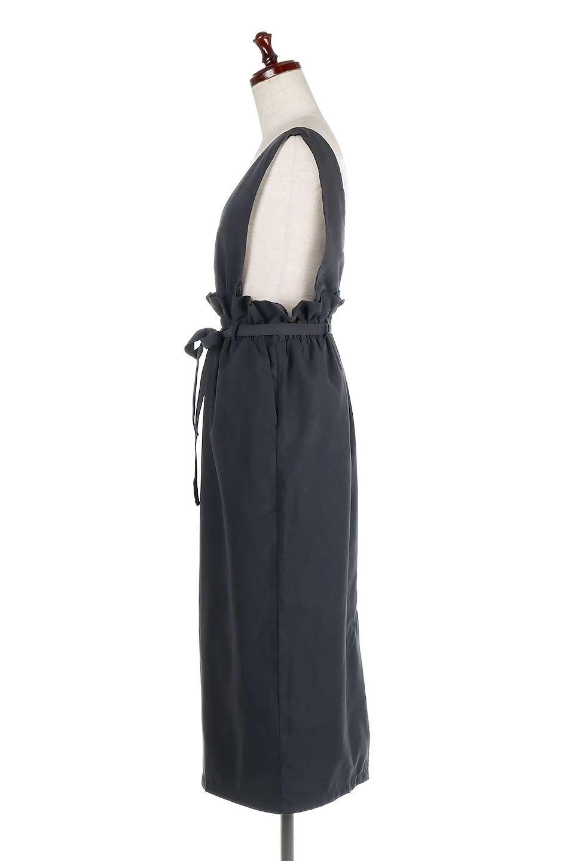 WaistGatheredJumperDressギャザーウエスト・ジャンパースカート大人カジュアルに最適な海外ファッションのothers(その他インポートアイテム)のボトムやスカート。ギャザーのウエストがアクセントのジャンパースカート。ハイウエストで下半身が長く見えます。/main-17
