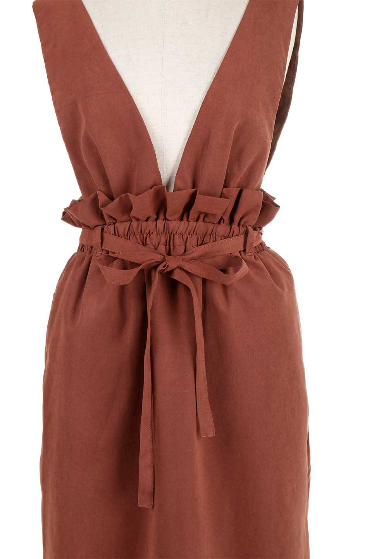 WaistGatheredJumperDressギャザーウエスト・ジャンパースカート大人カジュアルに最適な海外ファッションのothers(その他インポートアイテム)のボトムやスカート。ギャザーのウエストがアクセントのジャンパースカート。ハイウエストで下半身が長く見えます。/main-24