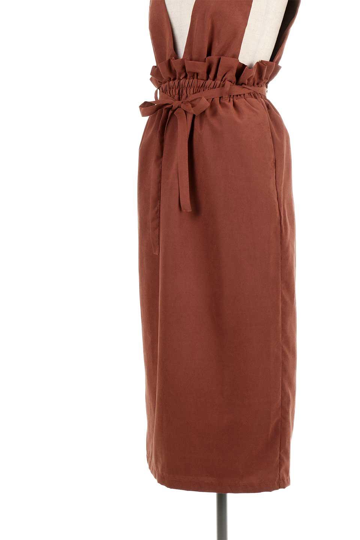 WaistGatheredJumperDressギャザーウエスト・ジャンパースカート大人カジュアルに最適な海外ファッションのothers(その他インポートアイテム)のボトムやスカート。ギャザーのウエストがアクセントのジャンパースカート。ハイウエストで下半身が長く見えます。/main-28