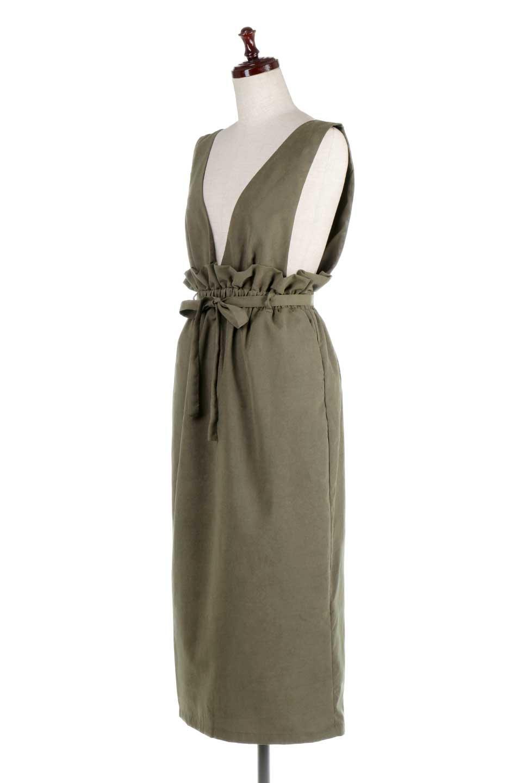 WaistGatheredJumperDressギャザーウエスト・ジャンパースカート大人カジュアルに最適な海外ファッションのothers(その他インポートアイテム)のボトムやスカート。ギャザーのウエストがアクセントのジャンパースカート。ハイウエストで下半身が長く見えます。/main-6
