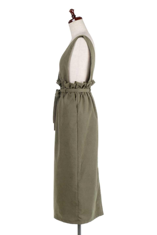 WaistGatheredJumperDressギャザーウエスト・ジャンパースカート大人カジュアルに最適な海外ファッションのothers(その他インポートアイテム)のボトムやスカート。ギャザーのウエストがアクセントのジャンパースカート。ハイウエストで下半身が長く見えます。/main-7