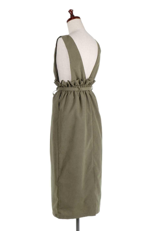 WaistGatheredJumperDressギャザーウエスト・ジャンパースカート大人カジュアルに最適な海外ファッションのothers(その他インポートアイテム)のボトムやスカート。ギャザーのウエストがアクセントのジャンパースカート。ハイウエストで下半身が長く見えます。/main-8