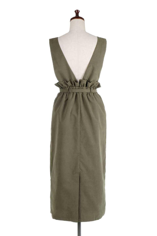 WaistGatheredJumperDressギャザーウエスト・ジャンパースカート大人カジュアルに最適な海外ファッションのothers(その他インポートアイテム)のボトムやスカート。ギャザーのウエストがアクセントのジャンパースカート。ハイウエストで下半身が長く見えます。/main-9