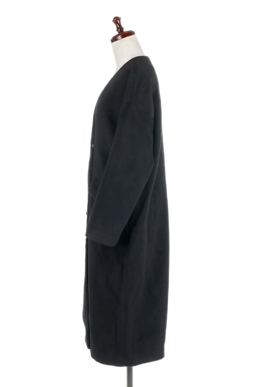 TexturedKnitCollarlessCoatオーバーサイズ・ノーカラーコート大人カジュアルに最適な海外ファッションのothers(その他インポートアイテム)のアウターやコート。シンプルデザインでオーバーサイズのカラーレスコート。タートルネックのニットや、ボリュームのあるスヌードなどを合わせても首元に余裕があるカラーレスタイプ。/main-12