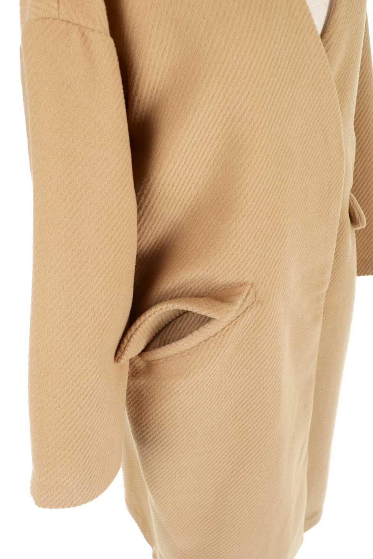 TexturedKnitCollarlessCoatオーバーサイズ・ノーカラーコート大人カジュアルに最適な海外ファッションのothers(その他インポートアイテム)のアウターやコート。シンプルデザインでオーバーサイズのカラーレスコート。タートルネックのニットや、ボリュームのあるスヌードなどを合わせても首元に余裕があるカラーレスタイプ。/main-19