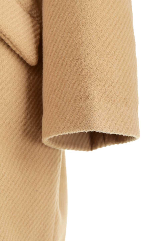 TexturedKnitCollarlessCoatオーバーサイズ・ノーカラーコート大人カジュアルに最適な海外ファッションのothers(その他インポートアイテム)のアウターやコート。シンプルデザインでオーバーサイズのカラーレスコート。タートルネックのニットや、ボリュームのあるスヌードなどを合わせても首元に余裕があるカラーレスタイプ。/main-20