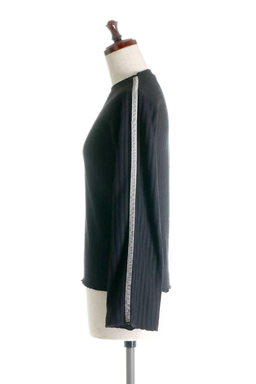 VelvetLinedFlareSleeveKnitTopベロアライン・起毛リブニット大人カジュアルに最適な海外ファッションのothers(その他インポートアイテム)のトップスやニット・セーター。薄っすらと起毛されたリブニットを使用したトップス。スッキリとしたボディにややゆとりのあるフレアスリーブが特徴。/main-17