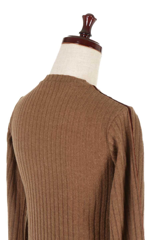 VelvetLinedFlareSleeveKnitTopベロアライン・起毛リブニット大人カジュアルに最適な海外ファッションのothers(その他インポートアイテム)のトップスやニット・セーター。薄っすらと起毛されたリブニットを使用したトップス。スッキリとしたボディにややゆとりのあるフレアスリーブが特徴。/main-21