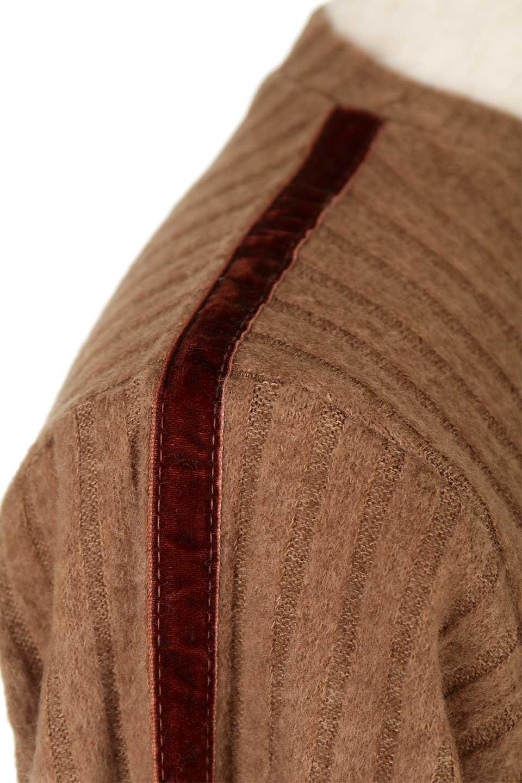 VelvetLinedFlareSleeveKnitTopベロアライン・起毛リブニット大人カジュアルに最適な海外ファッションのothers(その他インポートアイテム)のトップスやニット・セーター。薄っすらと起毛されたリブニットを使用したトップス。スッキリとしたボディにややゆとりのあるフレアスリーブが特徴。/main-26