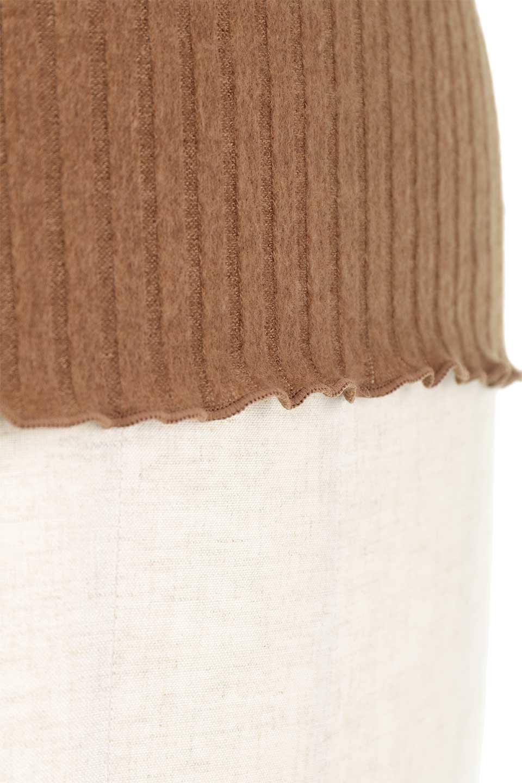 VelvetLinedFlareSleeveKnitTopベロアライン・起毛リブニット大人カジュアルに最適な海外ファッションのothers(その他インポートアイテム)のトップスやニット・セーター。薄っすらと起毛されたリブニットを使用したトップス。スッキリとしたボディにややゆとりのあるフレアスリーブが特徴。/main-27