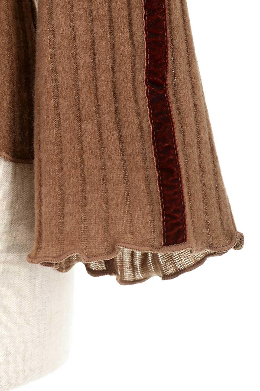 VelvetLinedFlareSleeveKnitTopベロアライン・起毛リブニット大人カジュアルに最適な海外ファッションのothers(その他インポートアイテム)のトップスやニット・セーター。薄っすらと起毛されたリブニットを使用したトップス。スッキリとしたボディにややゆとりのあるフレアスリーブが特徴。/main-29