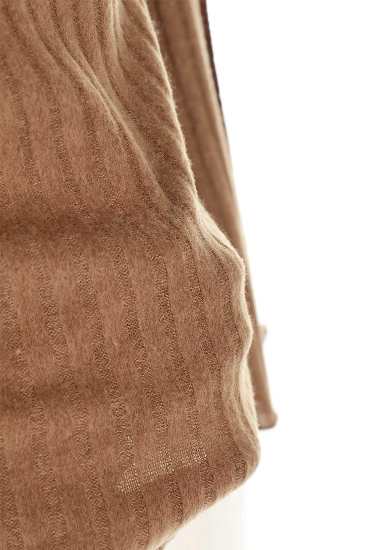 VelvetLinedFlareSleeveKnitTopベロアライン・起毛リブニット大人カジュアルに最適な海外ファッションのothers(その他インポートアイテム)のトップスやニット・セーター。薄っすらと起毛されたリブニットを使用したトップス。スッキリとしたボディにややゆとりのあるフレアスリーブが特徴。/main-30