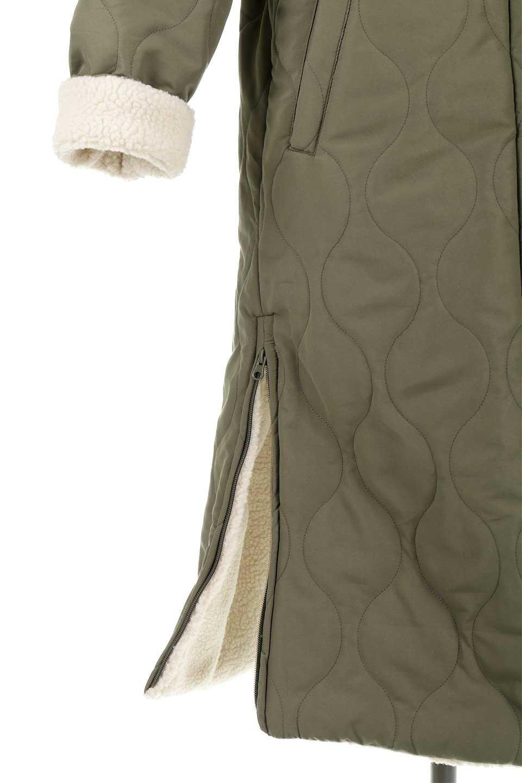 ReversibleShearlingCoatリバーシブル・キルティングコート大人カジュアルに最適な海外ファッションのothers(その他インポートアイテム)のアウターやコート。暖かさ抜群のキルティングのリバーシブルコート。裾や手首まで包み込む中綿とボアが暖かさを逃しません。/main-28