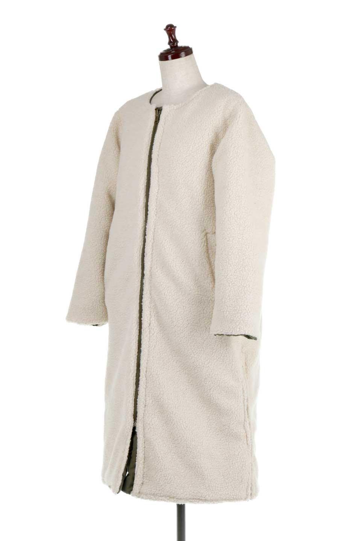 ReversibleShearlingCoatリバーシブル・キルティングコート大人カジュアルに最適な海外ファッションのothers(その他インポートアイテム)のアウターやコート。暖かさ抜群のキルティングのリバーシブルコート。裾や手首まで包み込む中綿とボアが暖かさを逃しません。/main-33