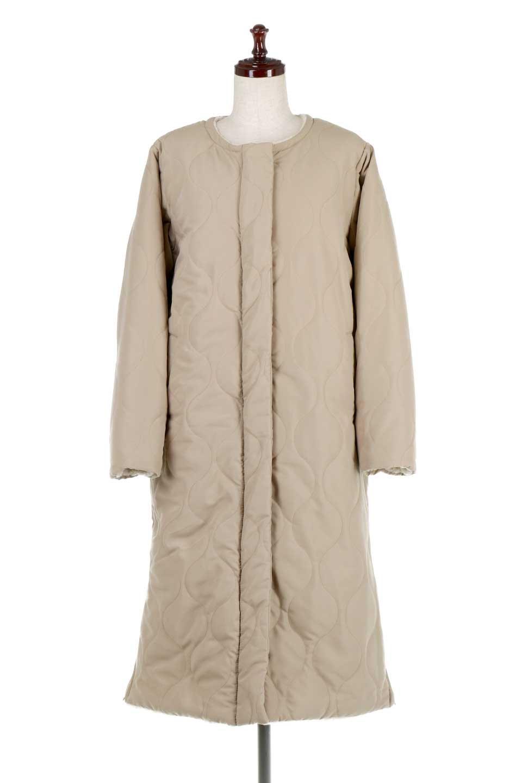 ReversibleShearlingCoatリバーシブル・キルティングコート大人カジュアルに最適な海外ファッションのothers(その他インポートアイテム)のアウターやコート。暖かさ抜群のキルティングのリバーシブルコート。裾や手首まで包み込む中綿とボアが暖かさを逃しません。/main-5