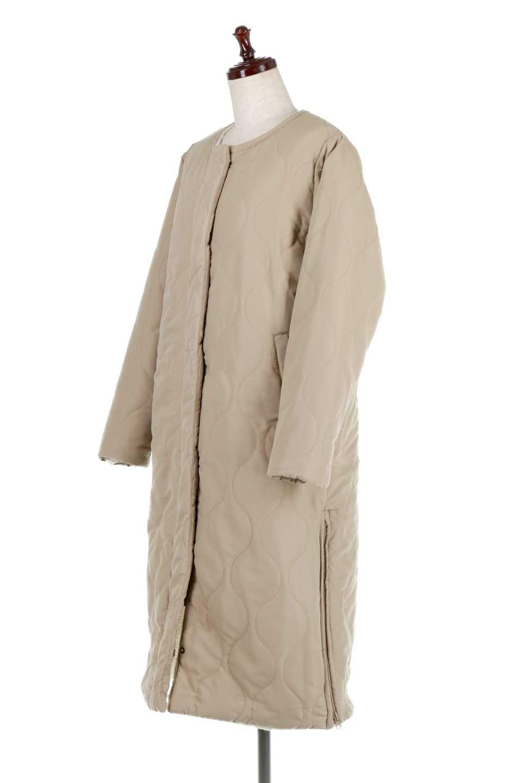 ReversibleShearlingCoatリバーシブル・キルティングコート大人カジュアルに最適な海外ファッションのothers(その他インポートアイテム)のアウターやコート。暖かさ抜群のキルティングのリバーシブルコート。裾や手首まで包み込む中綿とボアが暖かさを逃しません。/main-6
