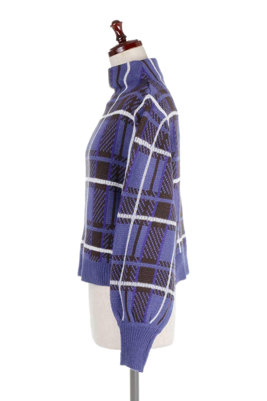 BalloonSleeveMockneckPullOverバルーンスリーブ・モックネックセーター大人カジュアルに最適な海外ファッションのothers(その他インポートアイテム)のトップスやニット・セーター。たっぷりとしたルーズタイプのモックネックがとても可愛いニットのトップス。緩めの身幅で長めの袖はバルーンスリーブ。/main-12