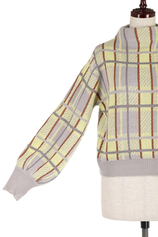 BalloonSleeveMockneckPullOverバルーンスリーブ・モックネックセーター大人カジュアルに最適な海外ファッションのothers(その他インポートアイテム)のトップスやニット・セーター。たっぷりとしたルーズタイプのモックネックがとても可愛いニットのトップス。緩めの身幅で長めの袖はバルーンスリーブ。/main-21