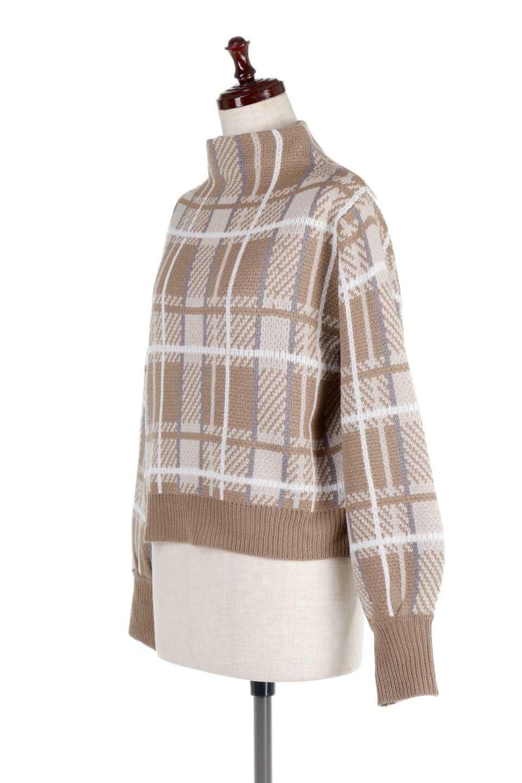 BalloonSleeveMockneckPullOverバルーンスリーブ・モックネックセーター大人カジュアルに最適な海外ファッションのothers(その他インポートアイテム)のトップスやニット・セーター。たっぷりとしたルーズタイプのモックネックがとても可愛いニットのトップス。緩めの身幅で長めの袖はバルーンスリーブ。/main-6