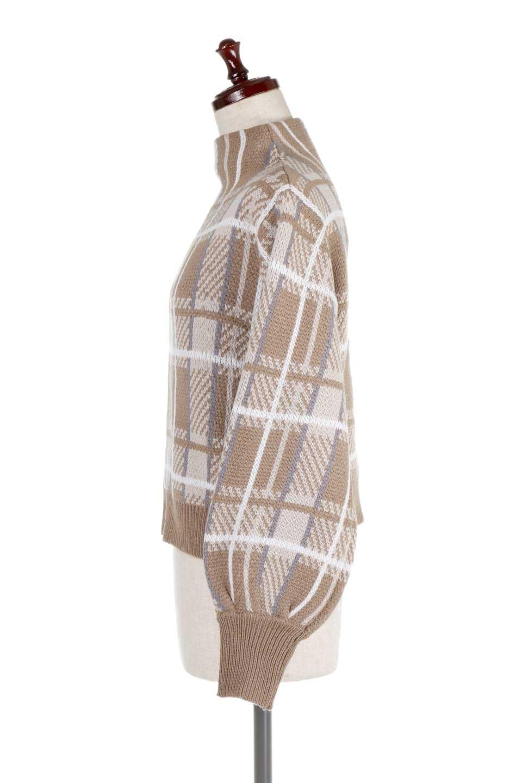 BalloonSleeveMockneckPullOverバルーンスリーブ・モックネックセーター大人カジュアルに最適な海外ファッションのothers(その他インポートアイテム)のトップスやニット・セーター。たっぷりとしたルーズタイプのモックネックがとても可愛いニットのトップス。緩めの身幅で長めの袖はバルーンスリーブ。/main-7