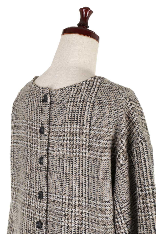 GlencheckFringePulloverグレンチェック・フリンジトップス大人カジュアルに最適な海外ファッションのothers(その他インポートアイテム)のトップスやニット・セーター。裾のフリンジが可愛いオーバーサイズのプルオーバートップス。シックになりがちなグレンチェックですが、大柄チェックなのでカジュアル感のあるアイテムです。/main-16
