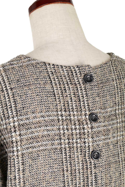 GlencheckFringePulloverグレンチェック・フリンジトップス大人カジュアルに最適な海外ファッションのothers(その他インポートアイテム)のトップスやニット・セーター。裾のフリンジが可愛いオーバーサイズのプルオーバートップス。シックになりがちなグレンチェックですが、大柄チェックなのでカジュアル感のあるアイテムです。/main-18
