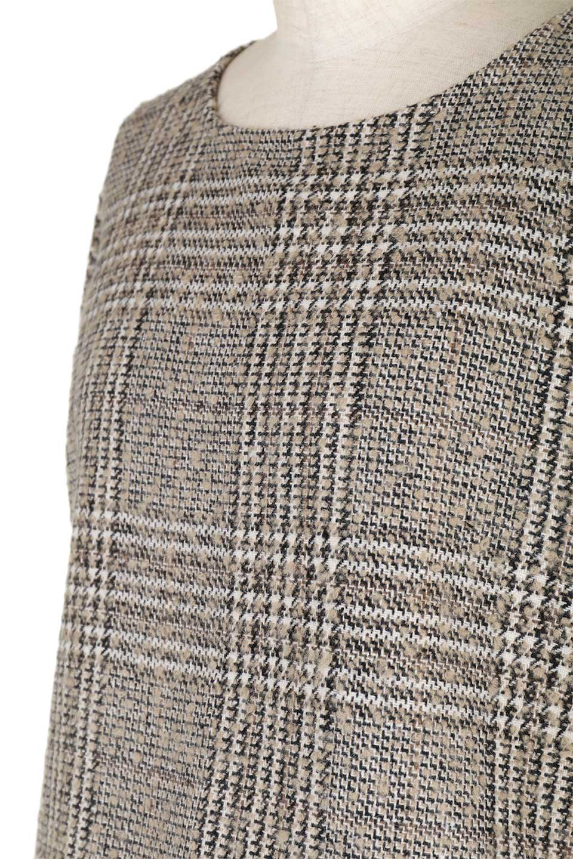 GlencheckFringePulloverグレンチェック・フリンジトップス大人カジュアルに最適な海外ファッションのothers(その他インポートアイテム)のトップスやニット・セーター。裾のフリンジが可愛いオーバーサイズのプルオーバートップス。シックになりがちなグレンチェックですが、大柄チェックなのでカジュアル感のあるアイテムです。/main-20