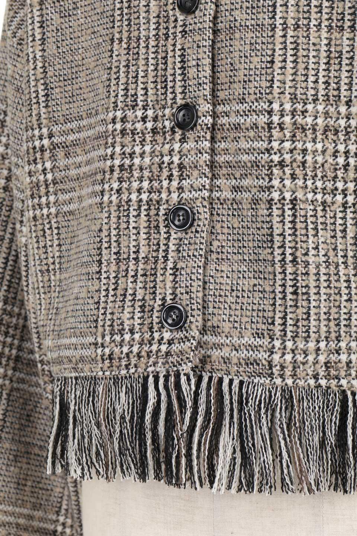 GlencheckFringePulloverグレンチェック・フリンジトップス大人カジュアルに最適な海外ファッションのothers(その他インポートアイテム)のトップスやニット・セーター。裾のフリンジが可愛いオーバーサイズのプルオーバートップス。シックになりがちなグレンチェックですが、大柄チェックなのでカジュアル感のあるアイテムです。/main-25