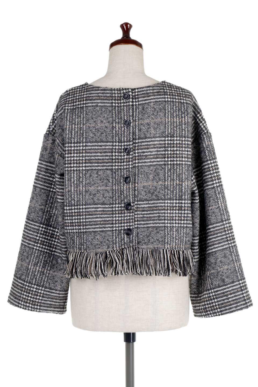 GlencheckFringePulloverグレンチェック・フリンジトップス大人カジュアルに最適な海外ファッションのothers(その他インポートアイテム)のトップスやニット・セーター。裾のフリンジが可愛いオーバーサイズのプルオーバートップス。シックになりがちなグレンチェックですが、大柄チェックなのでカジュアル感のあるアイテムです。/main-9
