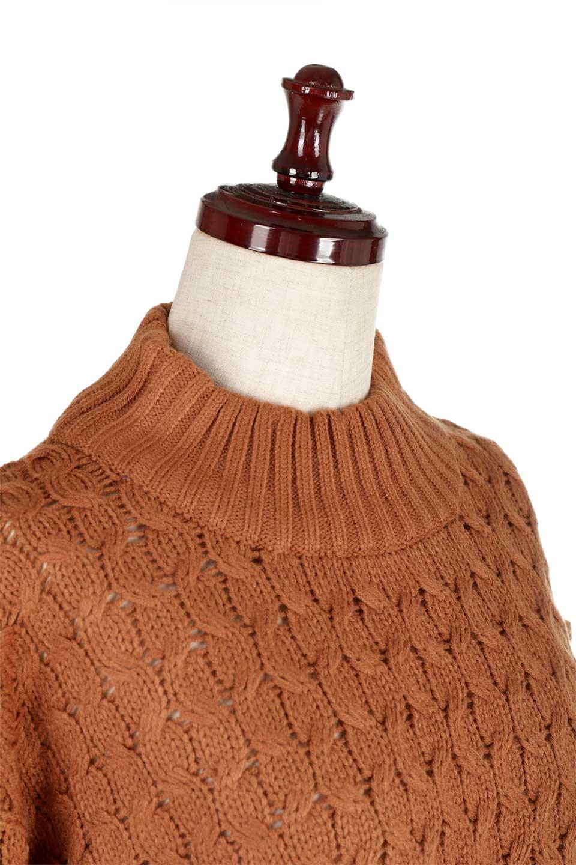 RibbedHighNeckFringeKnitTopハイネック・フリンジセーター大人カジュアルに最適な海外ファッションのothers(その他インポートアイテム)のトップスやニット・セーター。フリンジが飾られた袖が可愛いザックリ編みのケーブルニットセーター。肉厚で大きめリブのハイネックは小顔効果も期待できそうです。/main-20