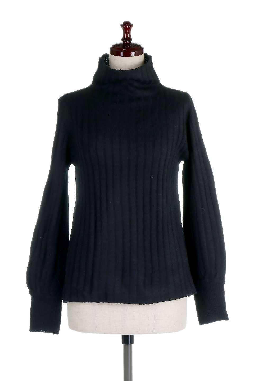 WideRibbedBottleNeckKnitTopワイドリブ・ボトルネックセーター大人カジュアルに最適な海外ファッションのothers(その他インポートアイテム)のトップスやニット・セーター。ゆとりのあるボトルネックが可愛いニットのトップス。緩めのサイズ感と首元のクシュ感が大人気のリブセーター。/main-10