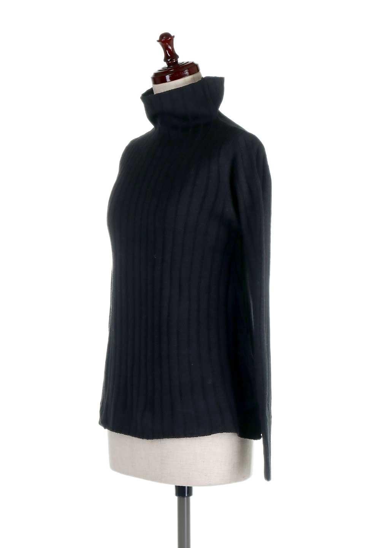 WideRibbedBottleNeckKnitTopワイドリブ・ボトルネックセーター大人カジュアルに最適な海外ファッションのothers(その他インポートアイテム)のトップスやニット・セーター。ゆとりのあるボトルネックが可愛いニットのトップス。緩めのサイズ感と首元のクシュ感が大人気のリブセーター。/main-11