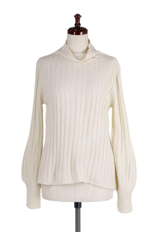 WideRibbedBottleNeckKnitTopワイドリブ・ボトルネックセーター大人カジュアルに最適な海外ファッションのothers(その他インポートアイテム)のトップスやニット・セーター。ゆとりのあるボトルネックが可愛いニットのトップス。緩めのサイズ感と首元のクシュ感が大人気のリブセーター。/main-5
