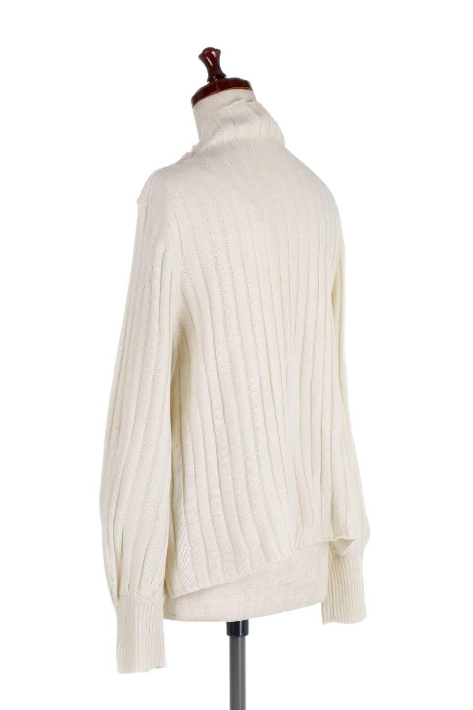 WideRibbedBottleNeckKnitTopワイドリブ・ボトルネックセーター大人カジュアルに最適な海外ファッションのothers(その他インポートアイテム)のトップスやニット・セーター。ゆとりのあるボトルネックが可愛いニットのトップス。緩めのサイズ感と首元のクシュ感が大人気のリブセーター。/main-8