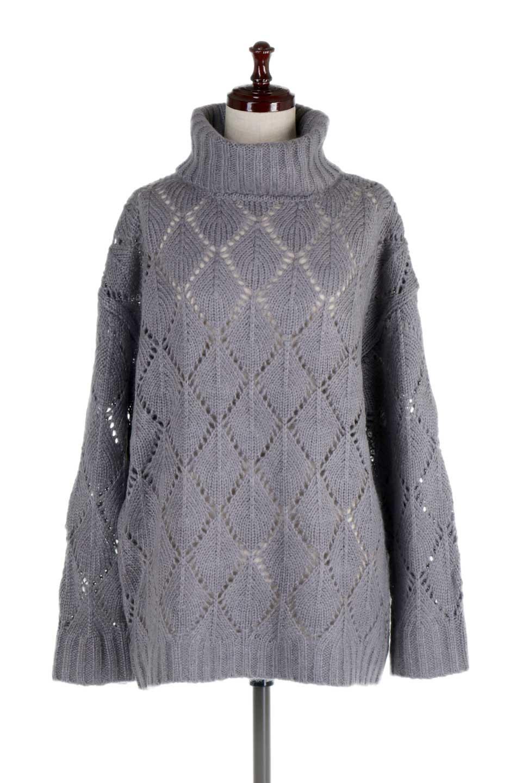 DiamondPatternTurtleNeckSweater模様編み・タートルネックセーター大人カジュアルに最適な海外ファッションのothers(その他インポートアイテム)のトップスやニット・セーター。たっぷり大きめのタートルネックがポイントのニット・セーター。オーバーサイズ気味のシルエットに長い袖が可愛いアイテム。/main-10