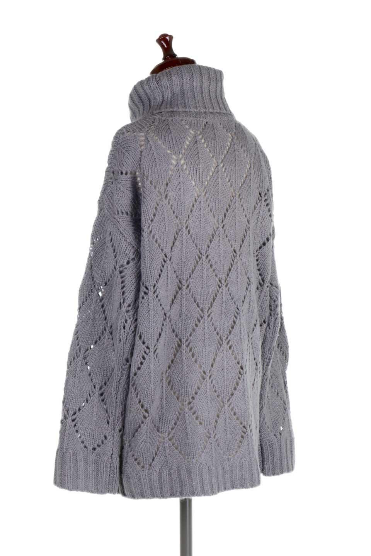 DiamondPatternTurtleNeckSweater模様編み・タートルネックセーター大人カジュアルに最適な海外ファッションのothers(その他インポートアイテム)のトップスやニット・セーター。たっぷり大きめのタートルネックがポイントのニット・セーター。オーバーサイズ気味のシルエットに長い袖が可愛いアイテム。/main-13